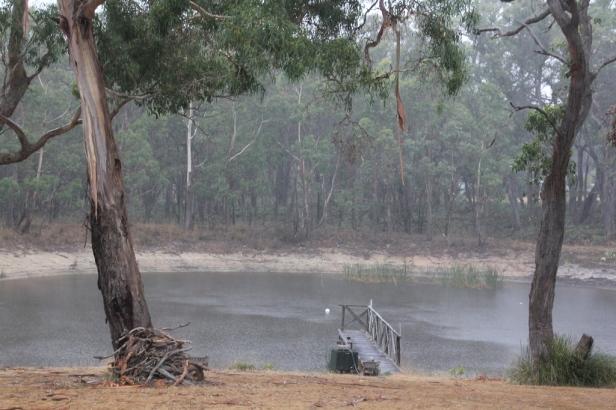 Rain over the dam