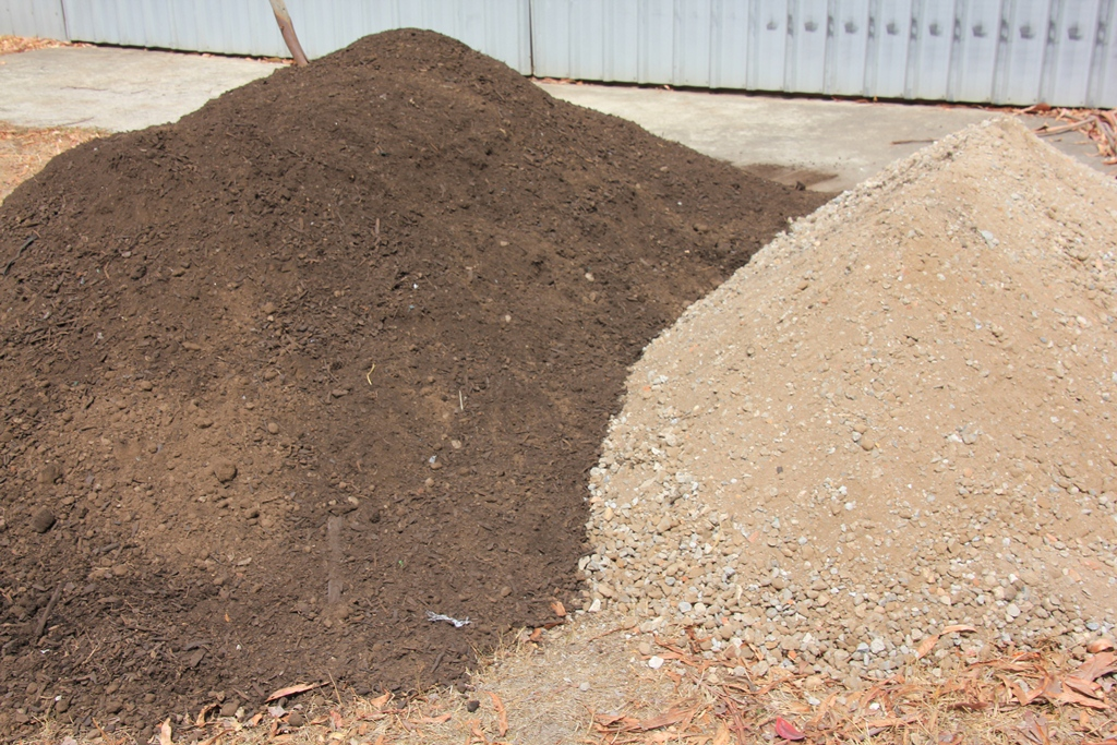 Soil and crushed rock