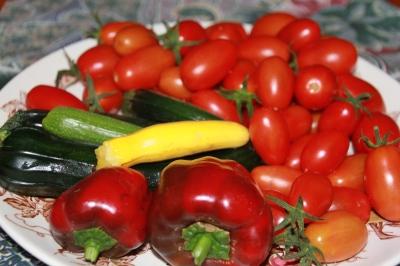 Fresh home grown vegetables